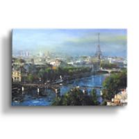 Art Wall Paris Pedestrian Bridge 8-Inch x 12-Inch Canvas Wall Art