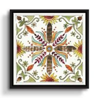 ArtWall Festive Foliage VIII 24-Inch Square Floater Framed Wall Art