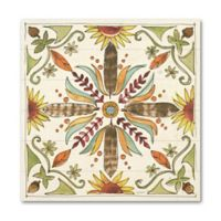 ArtWall Festive Foliage VIII 10-Inch Square Wood Wall Art