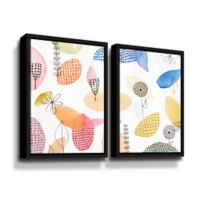 ArtWall The Good Old Days 36-Inch x 48-Inch Floater-framed Canvas Wall Art (Set of 2)