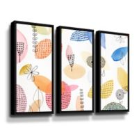 ArtWall The Good Old Days 36-Inch x 54-Inch Floater-framed Canvas Wall Art (Set of 3)