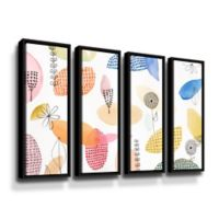 ArtWall The Good Old Days 24-Inch x 32-Inch Framed Canvas Wall Art (Set of 4)