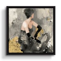 ArtWall Beautiful Gaze 10-Inch x 10-Inch Framed Canvas Wall Art