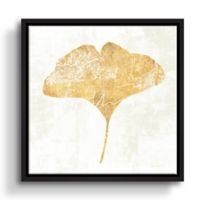 ArtWall Bronzed Leaf III 14-Inch Floater Framed Wall Art in Gold