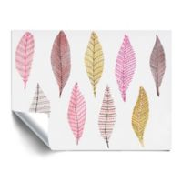 ArtWall Feathers 18-Inch x 24-Inch Vinyl Wall Decal in Pink