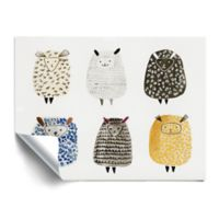 ArtWall Six and Counting 18-Inch x 24-Inch Peel and Stick Wall Art