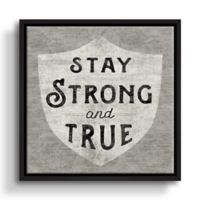 "Sue Schlabach ""Stay Strong and True"" Framed 18-Inch Square Canvas Wall Art"