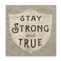 "Sue Schlabach ""Stay Strong and True"" 10-Inch Square Wood Wall Art"