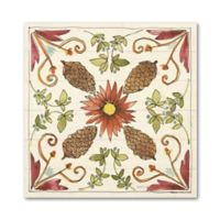 Art Wall Festive Foliage IX 10-Inch Square Wood Wall Art