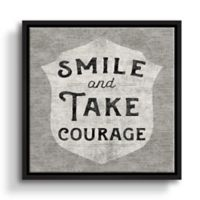 """Art Wall """"Smile and Take Courage"""" 18-Inch Square Framed Wall Art"""