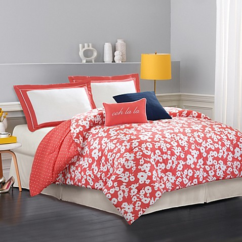 Buy kate spade new york mixed petal king comforter set for Bed bath and beyond kate spade