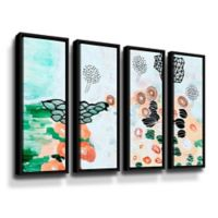 Art Wall Flying Trees by the Pond 36-Inch x 48-Inch Framed Wall Art (Set of 4)