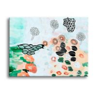 Art Wall Flying Trees by the Pond 18-Inch x 12-Inch Canvas Wall Art