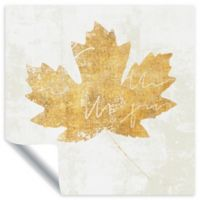 ArtWall Bronzed Leaf IV 18-Inch Square Vinyl Wall Decal in Gold