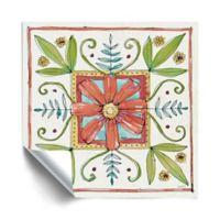 ArtWall Simply Petals 18-Inch x 18-Inch Peel & Stick Wall Art