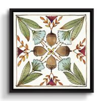 Festive Foliage VII 18-Inch Square Floater Framed Wall Art
