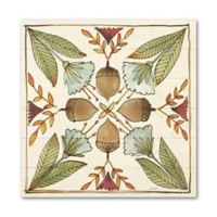 Festive Foliage VII 10-Inch Square Wood Wall Art