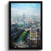 Tower in the Distance 14-Inch x 18-Inch Floater Frame Wall Art