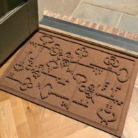 Weather Guard™ Keys to City 23-Inch x 35-Inch Door Mat in Brown