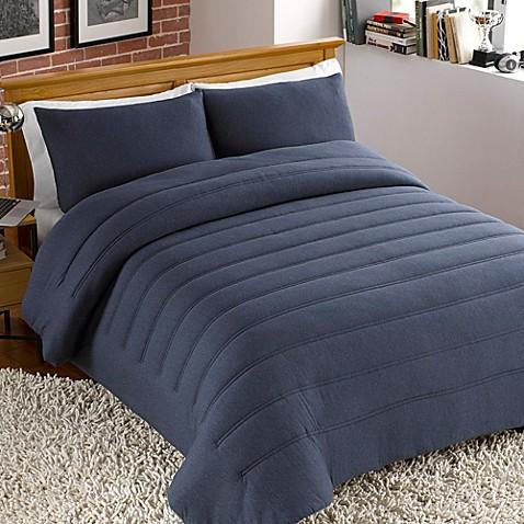 Jersey Channel Stitch Comforter Set In Navy Bed Bath