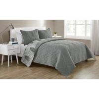 VCNY Home Lauanna Reversible Full/Queen Quilt Set in Grey