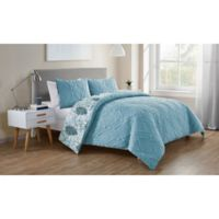 VCNY Home Lauanna Reversible Twin/Twin XL Duvet Cover Set in Light Blue
