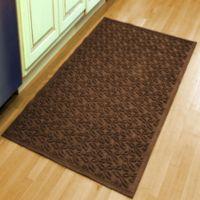 Weather Guard Leaf 34-1/2-Inch x 58-Inch Door Mat in Dark Brown