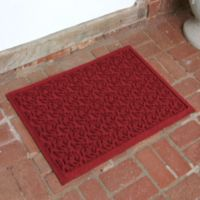 Weather Guard™ Leaf 23-Inch x 35-Inch Door Mat in Red