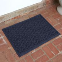 Weather Guard™ Leaf 23-Inch x 35-Inch Door Mat in Navy