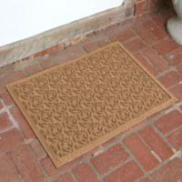 Weather Guard™ Leaf 23-Inch x 35-Inch Door Mat in Brown
