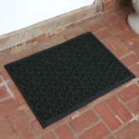 Weather Guard™ Leaf 23-Inch x 35-Inch Door Mat in Charcoal