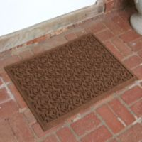 Weather Guard™ Leaf 23-Inch x 35-Inch Door Mat in Dark Brown