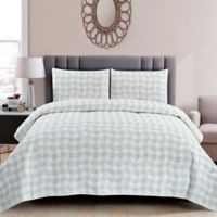 Wonder Home Sebastian Quilted 3-Piece King Quilt Set in Blue