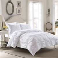 Elise King Duvet Cover Set in White