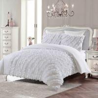 Arielle King Duvet Cover Set in White