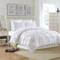 Bella King Comforter Set in White