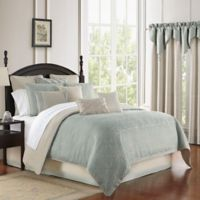 Waterford® Daphne Reversible King Comforter Set in Jade