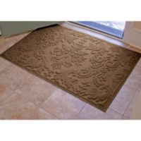 Weather Guard™ Damask 34-Inch x 52-Inch Door Mat in Dark Brown