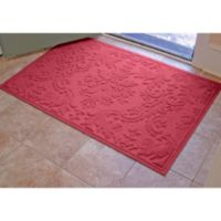 Weather Guard™ Damask 34-Inch x 52-Inch Door Mat in Red