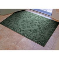 Weather Guard™ Damask 34-Inch x 52-Inch Door Mat in Evergreen