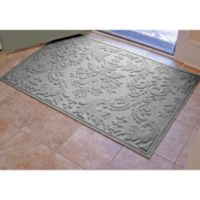 Weather Guard™ Damask 34-Inch x 52-Inch Door Mat in Medium Grey