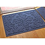 Weather Guard™ Damask 23-Inch x 35-Inch Door Mat in Navy
