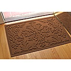 Weather Guard™ Damask 23-Inch x 35-Inch Door Mat in Dark Brown
