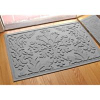 Weather Guard™ Damask 23-Inch x 35-Inch Door Mat in Medium Gray