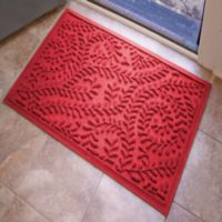 Weather Guard™ Boxwood 23-Inch x 35-Inch Door Mat in Solid Red