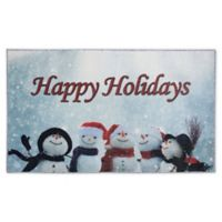 Mohawk Home Prismatic Snowman Cheer 2'6 x 4'2 Accent Rug in Blue