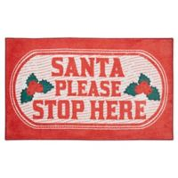 Mohawk Home Prismatic Santa Stop Here 2'6 x 4'2 Accent Rug in Red