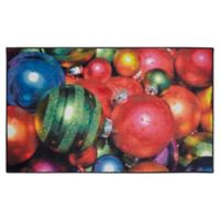 Mohawk Home Prismatic Christmas Ornaments 2'6 x 4'2 Accent Rug in Red