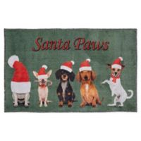 """Mohawk Home Prismatic """"Santa Paws"""" 2'6 x 4'2 Accent Rug in Green"""