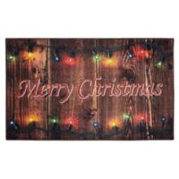 Mohawk Home Prismatic Christmas Lights 2'6 x 4'2 Accent Rug in Brown